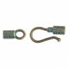 Hook & Eye - Cylinder 27x8mm Patina Finish